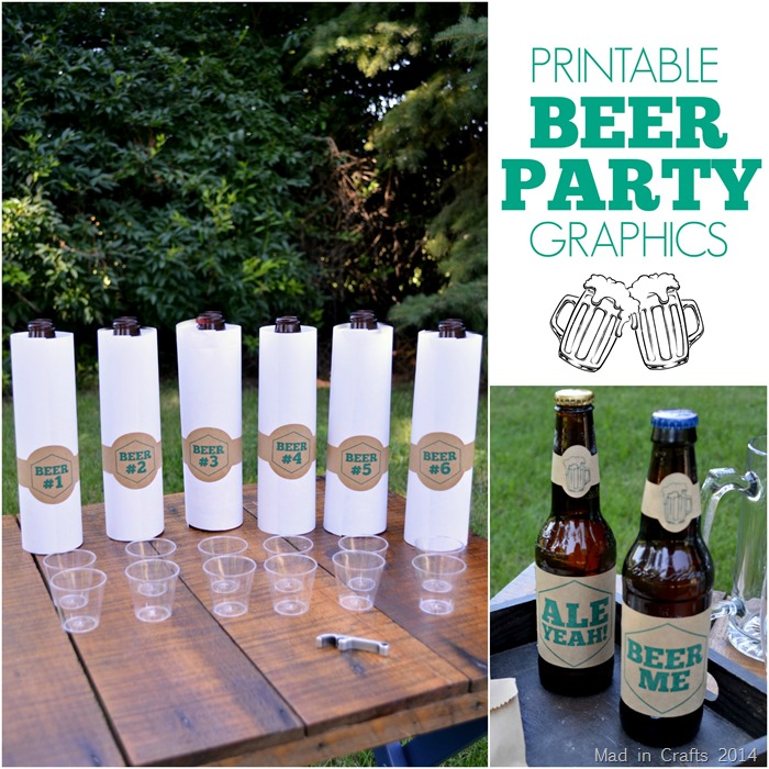 Printable Beer Party Graphics