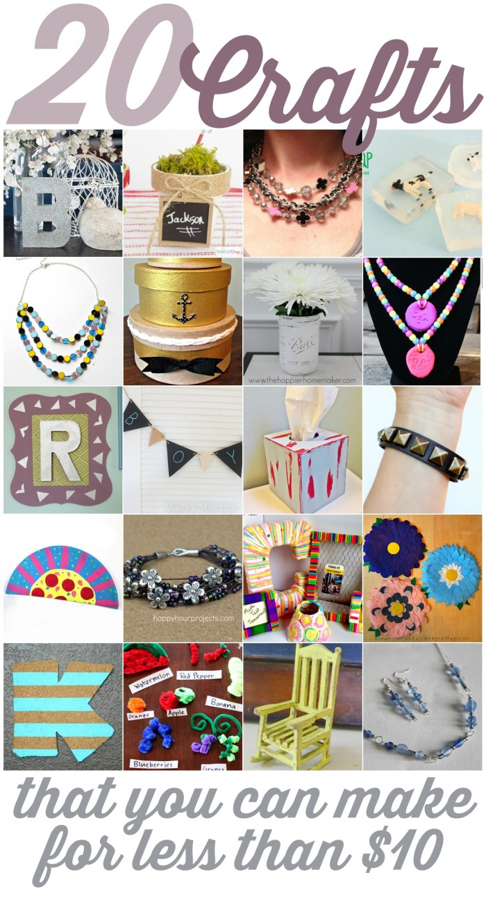 20 Crafts That You Can Make for Less Than $20