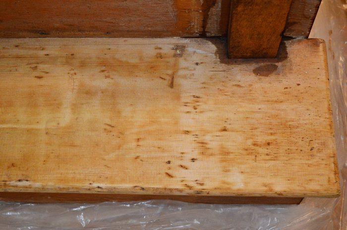 after wood bleach