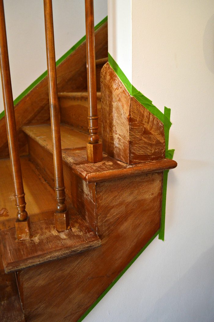 citristrip on stairs