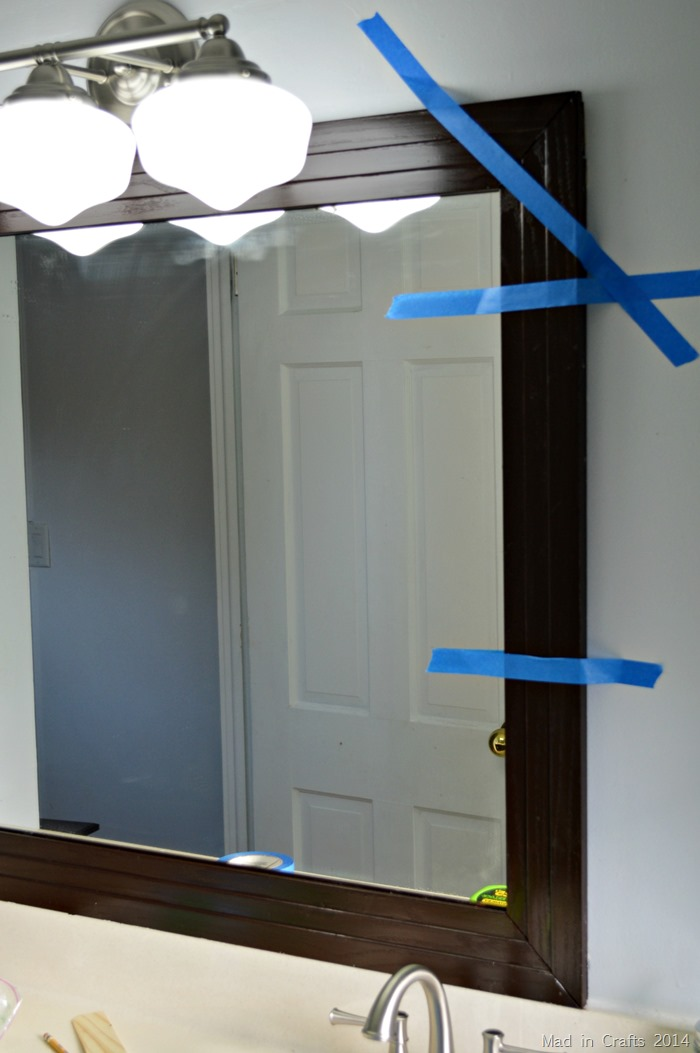 Add molding to mirror