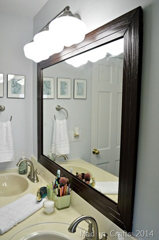 Framed Bathroom Mirror Mad In Crafts