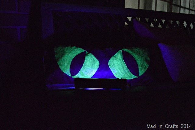 glow in the dark monster pillows mad in crafts. Black Bedroom Furniture Sets. Home Design Ideas