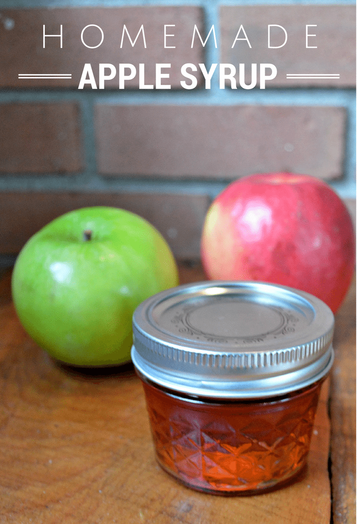 HOMEMADE APPLE SYRUP