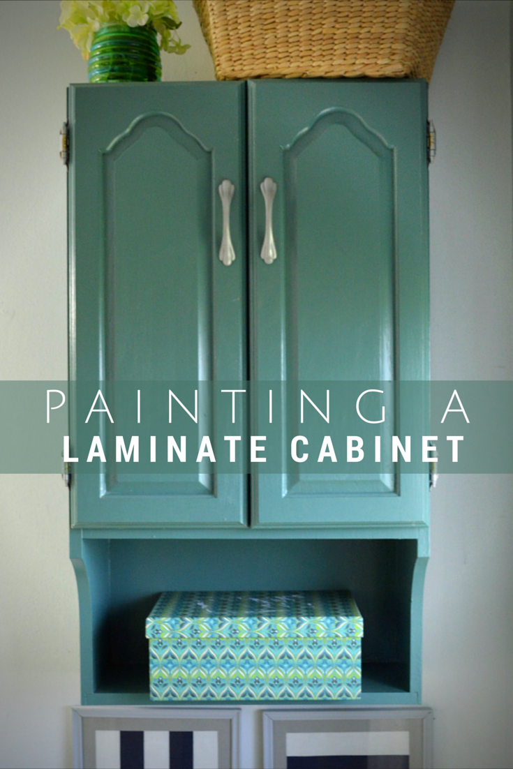 Painting Laminate Cabinets Painted Bathroom Storage Cabinet