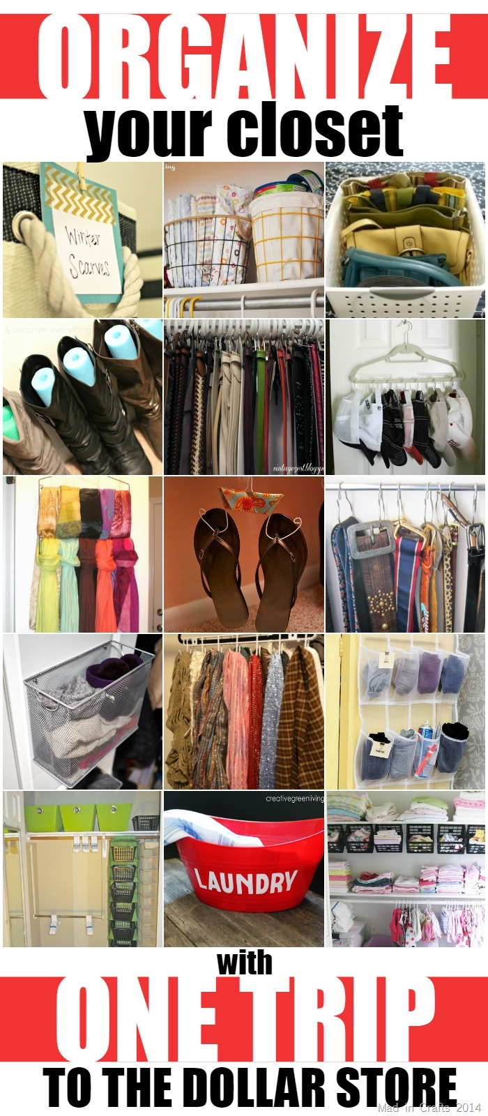 Organize your closet with one trip to the dollar store for How to organize your closets