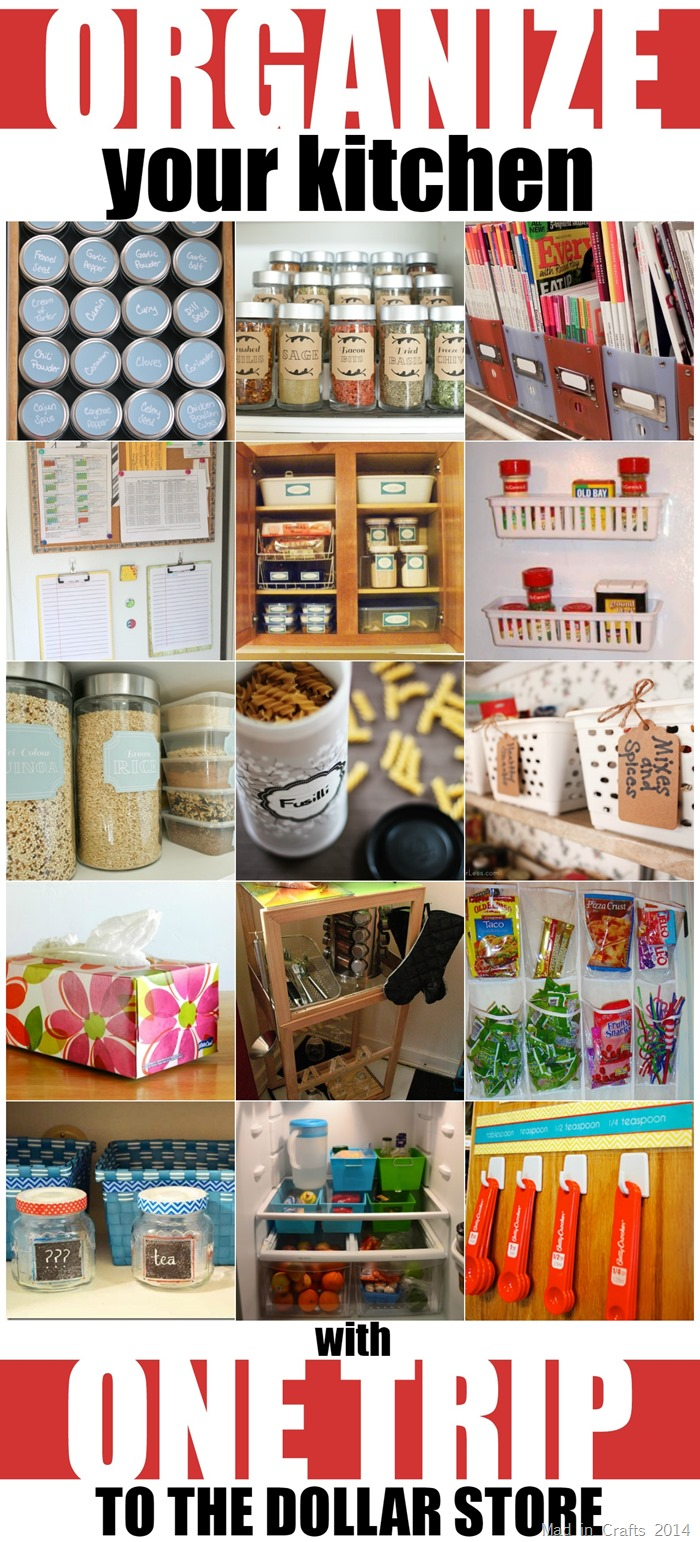 Kitchen Organize Organize Your Kitchen With One Trip To The Dollar Store