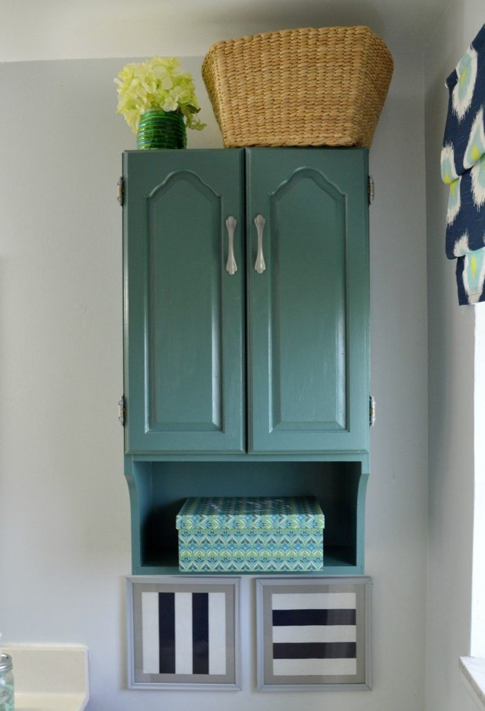 PAINTED BATHROOM STORAGE CABINET