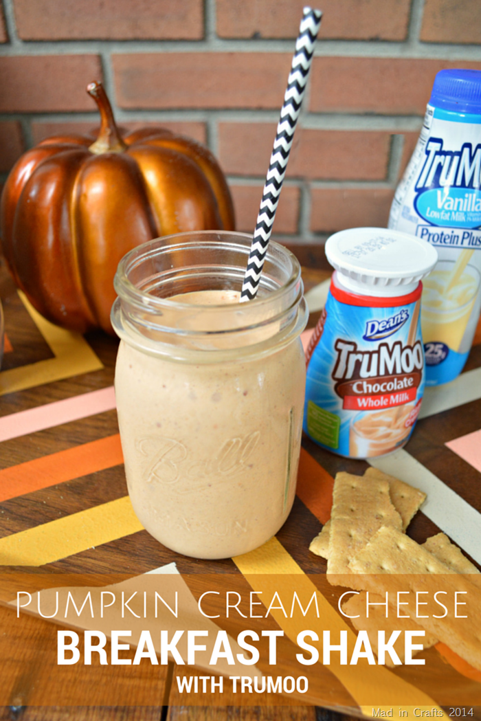 This Pumpkin Cream Cheese Breakfast Shake Recipe is healthy enough for breakfast but as delicious as dessert.