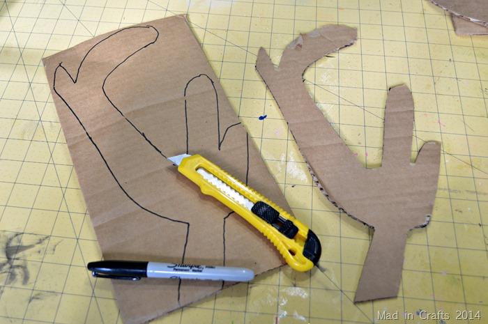 cardboard antlers