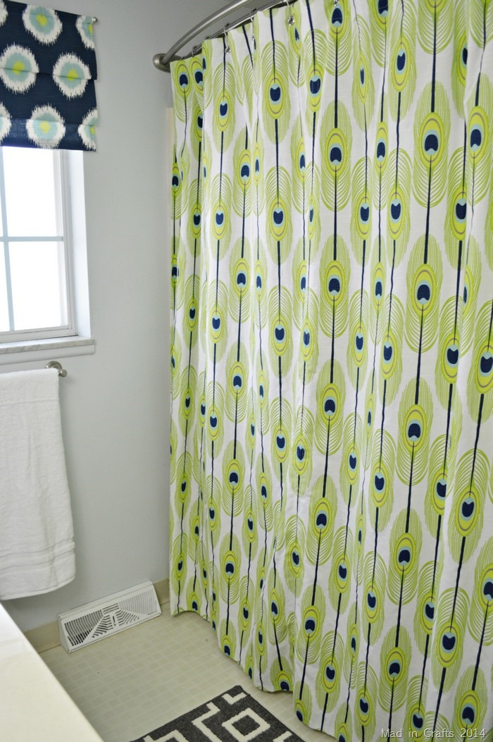 MAKE A GROMMET-TOPPED SHOWER CURTAIN Mad In Crafts