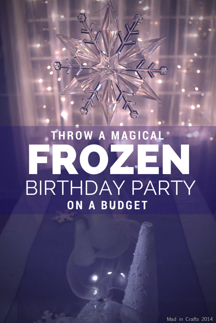 INEXPENSIVE FROZEN BIRTHDAY PARTY DECORATIONS Mad in Crafts