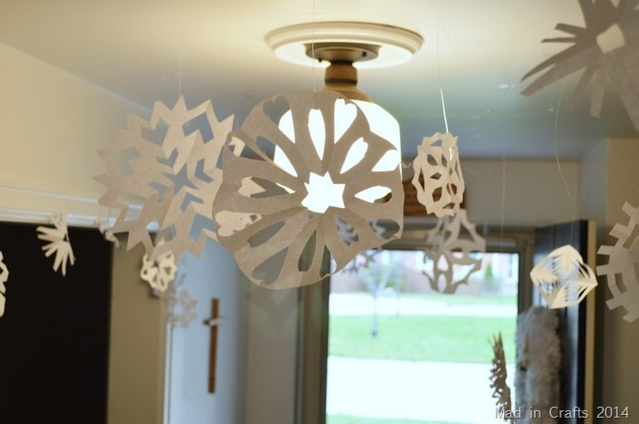 Frozen Decor Paper Snowflakes