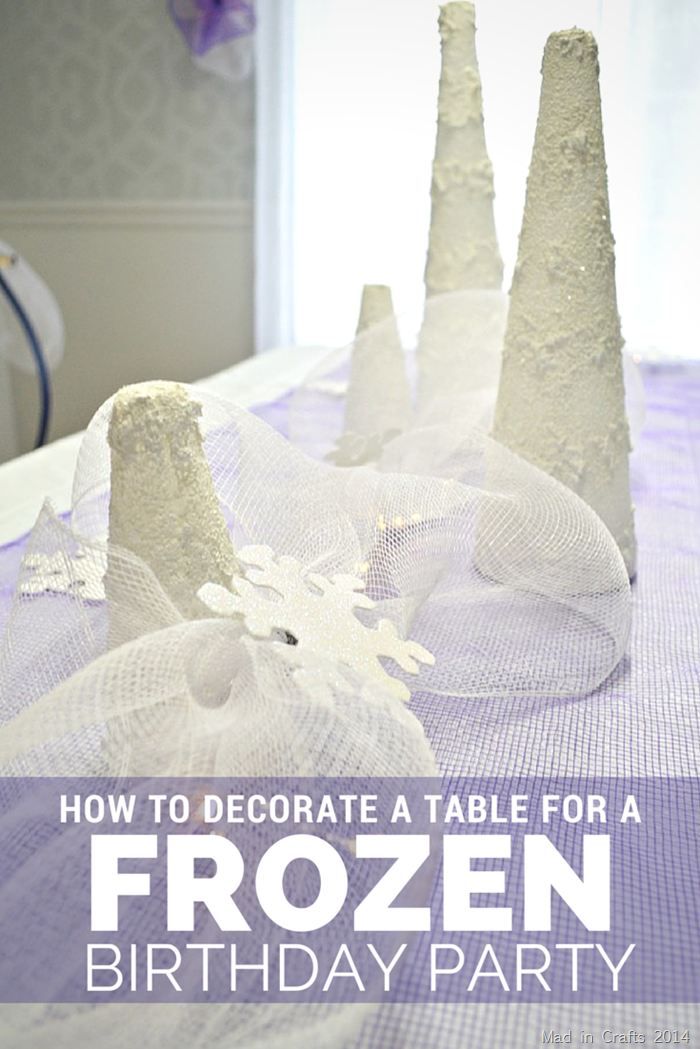 How to Layer a Table for a Frozen Birthday Party