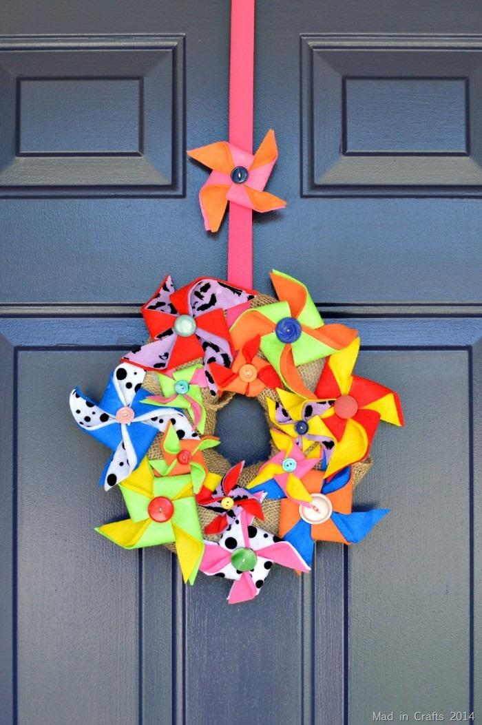 Kids Craft Pinwheel Wreath