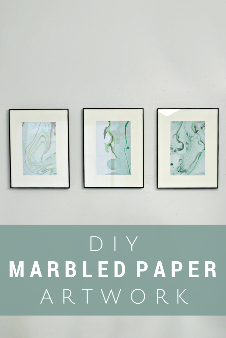 Peacock bathroom decor - Marbling Paper With Nail Polish 1