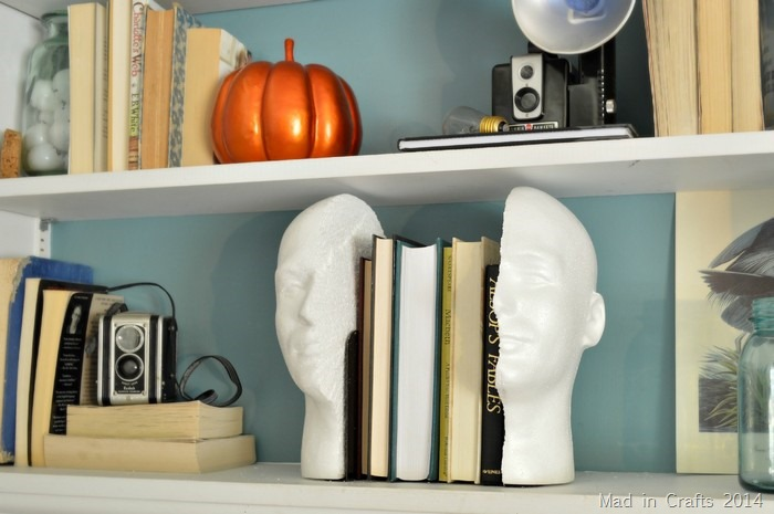 QUIRKY HEAD BOOKENDS
