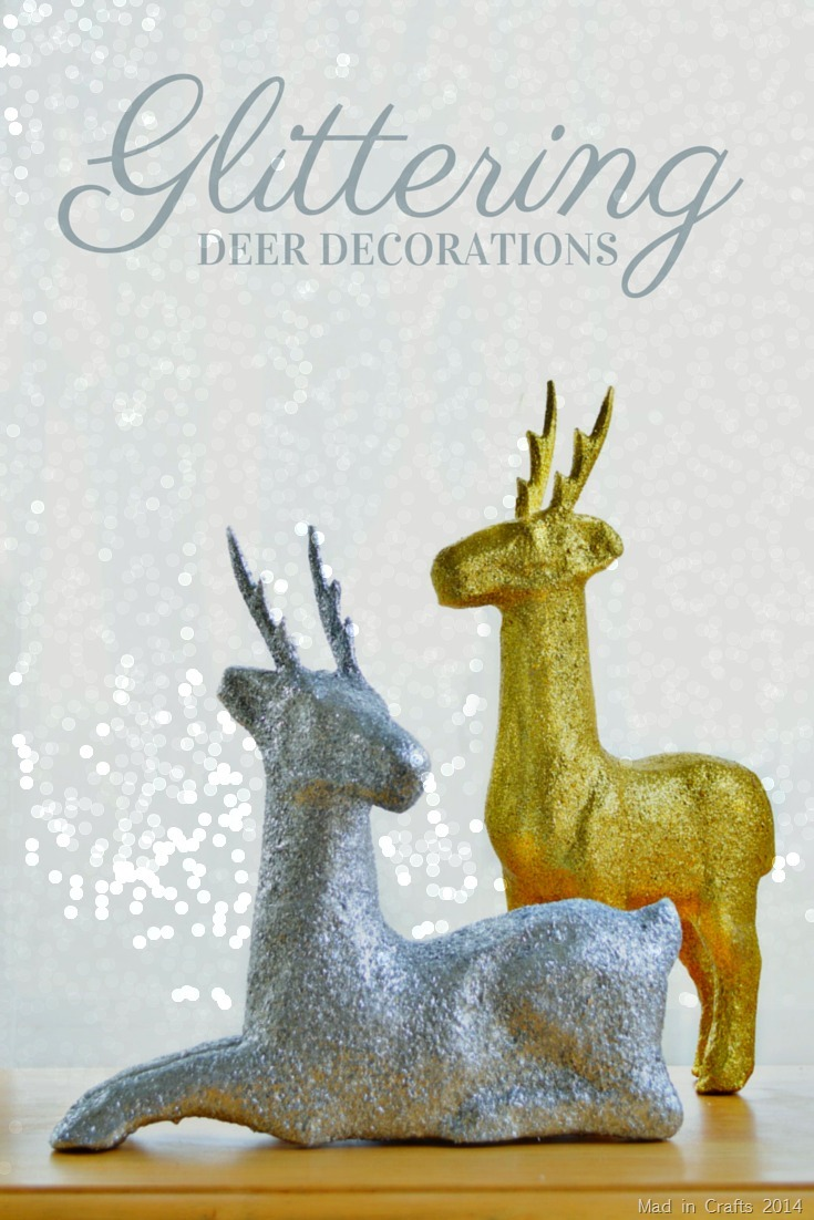 Glittered Paper Mache Deer Tutorial