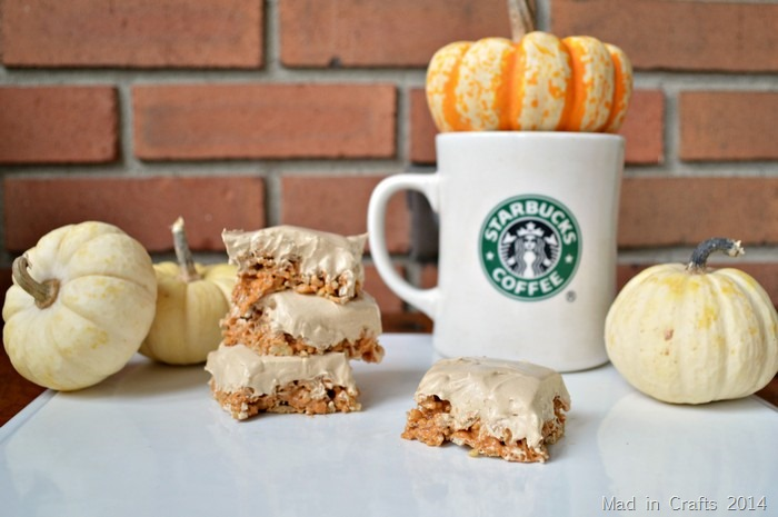 15 MINUTE PUMPKIN SPICE LATTE RICE KRISPIE TREATS