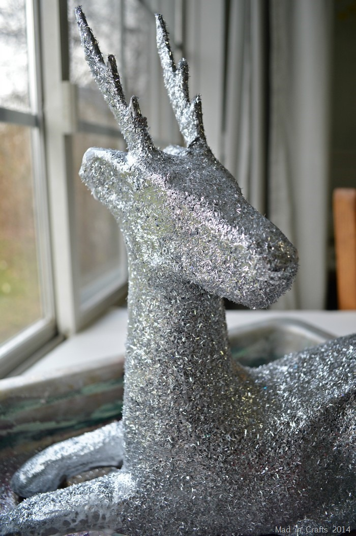 Glittered Paper Mache Deer Decorations Mad In Crafts