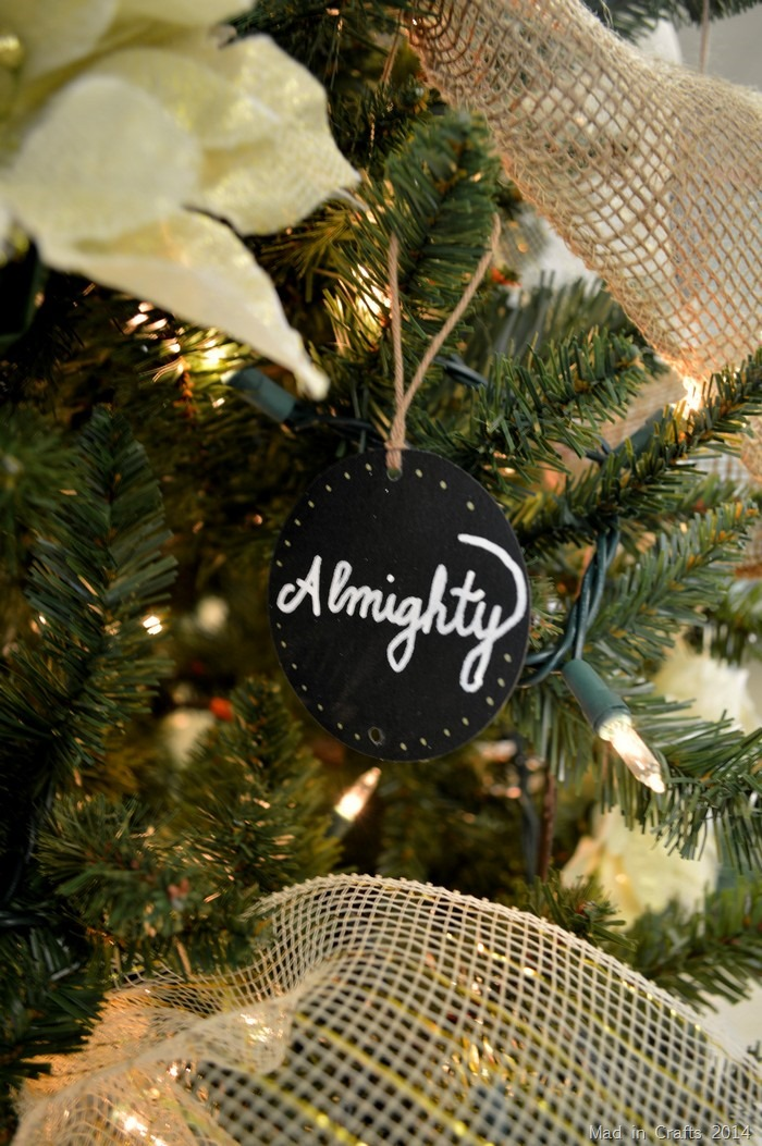 chalkboard ornaments - Christian Christmas Decorations