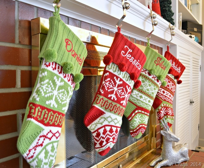 fair isle christmas stockings
