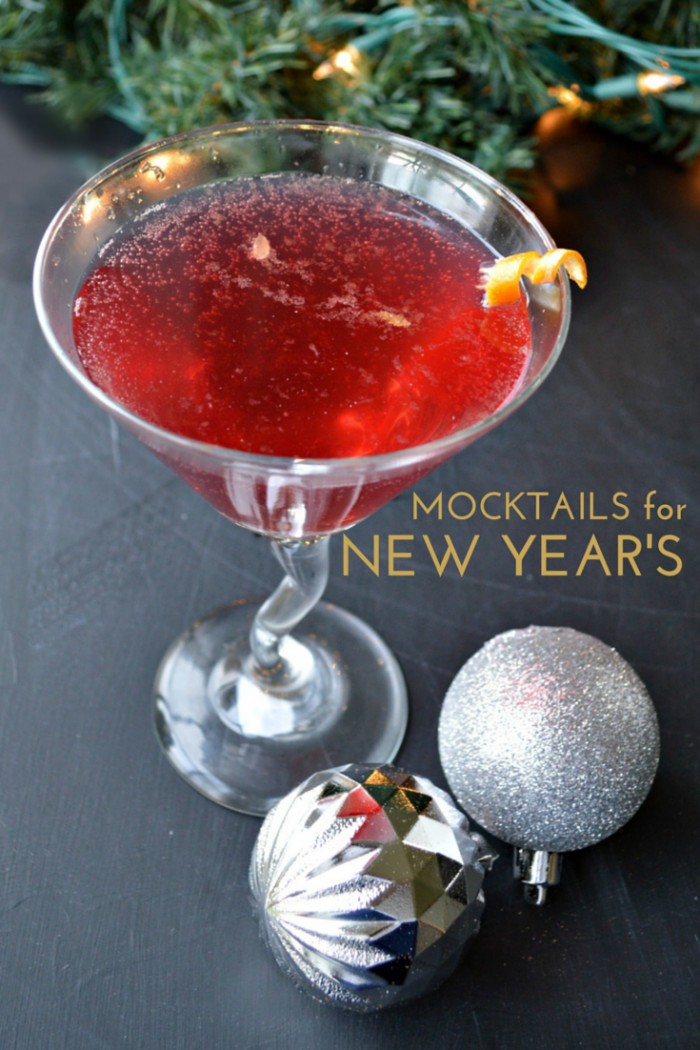 MOCKTAIL RECIPES FOR NEW YEAR'S EVE