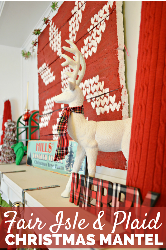 PLAID & FAIR ISLE CHRISTMAS MANTEL (2)