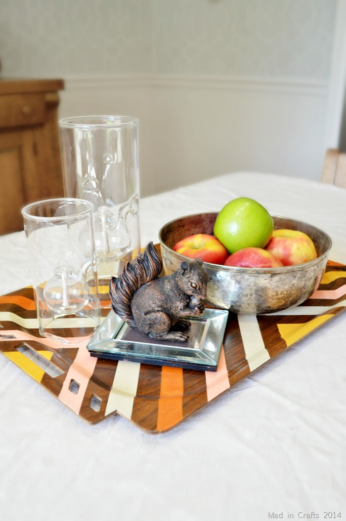 Painted Wood Tray canva