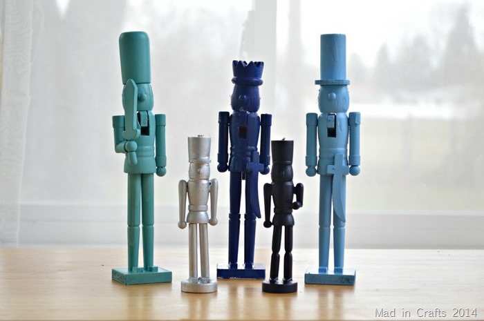 Spray Painted Nutcrackers
