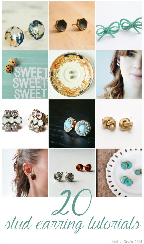 20 DIY Stud Earring Tutorials