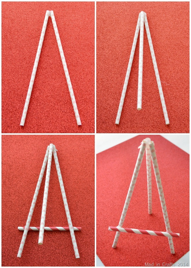 Paper Straw Easel