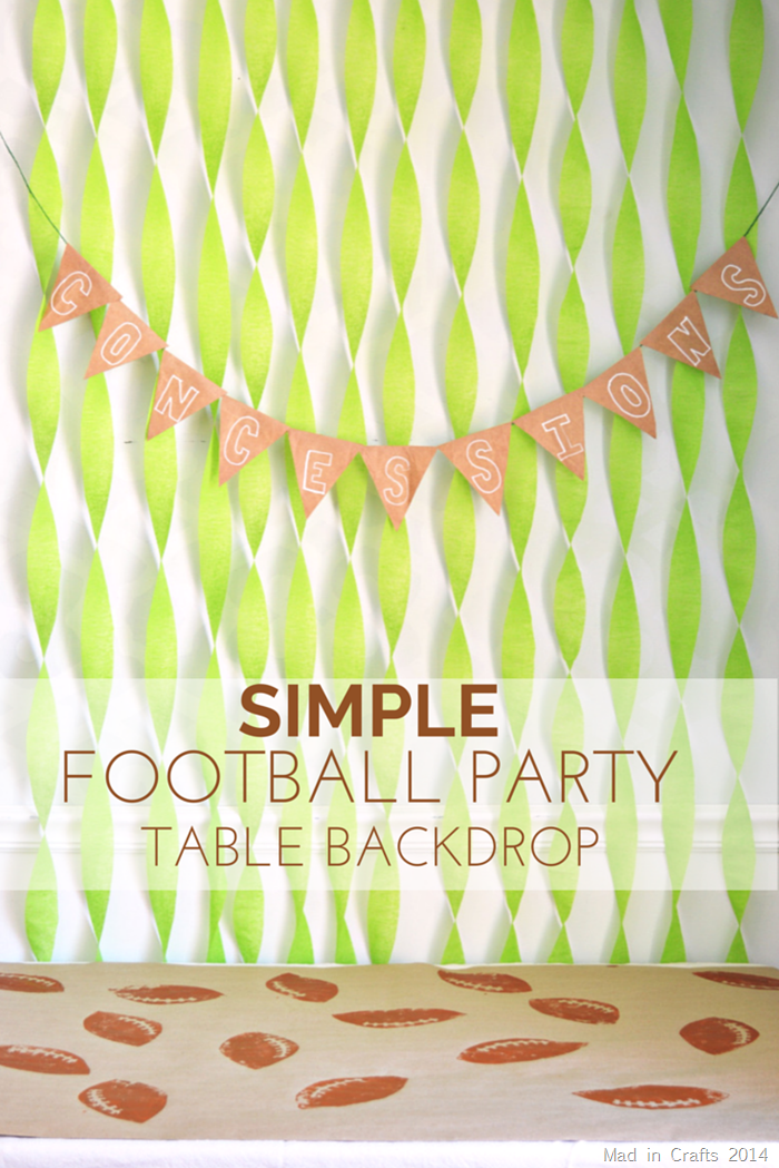SIMPLE FOOTBALL PARTY TABLE BACKDROP