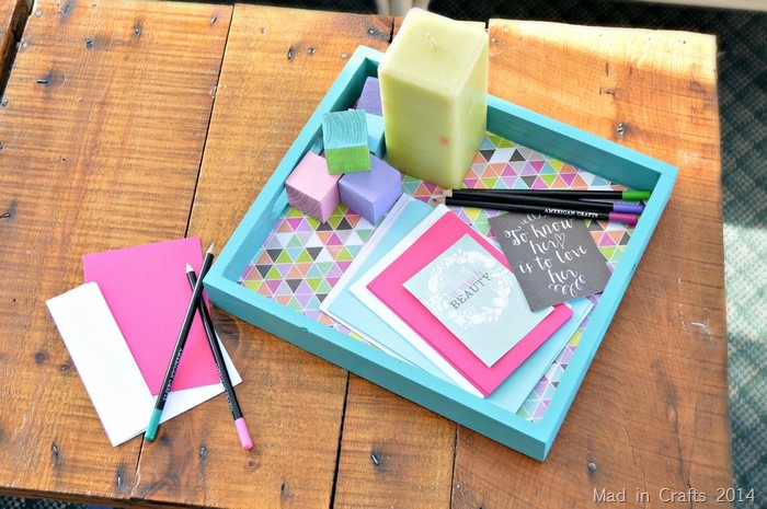 How to Mod Podge a Tray