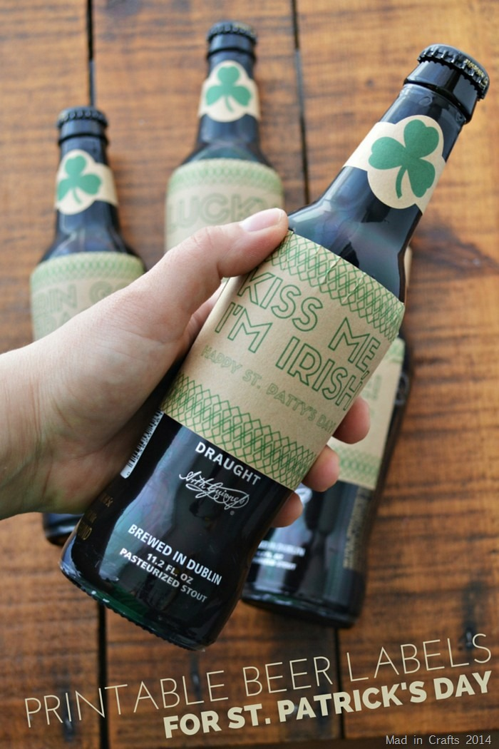 PRINTABLE BEER LABELS FOR ST. PATRICK'S DAY