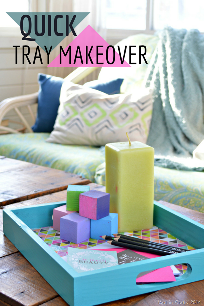 QUICK SPRAY PAINT AND MOD PODGE TRAY MAKEOVER