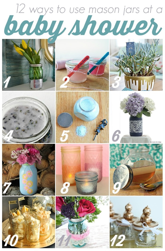 12 Ways to Use Mason Jars at a Baby Shower