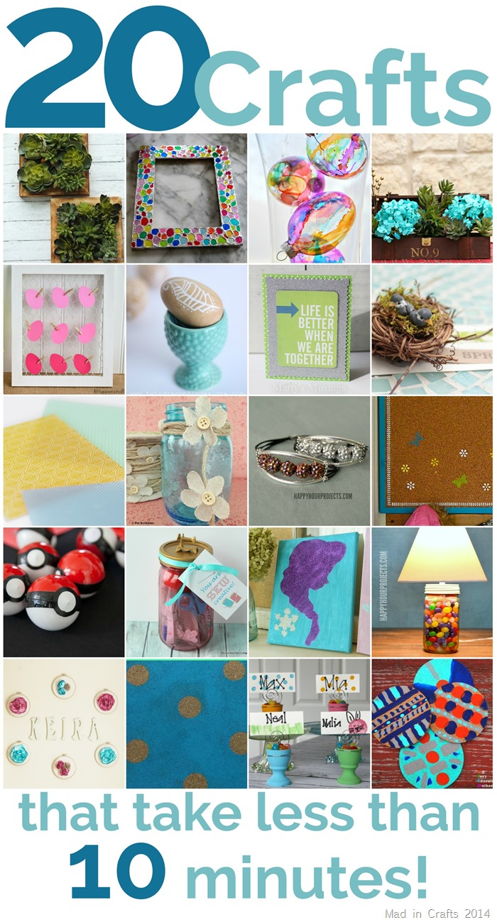 20 Crafts That Can Be Made in Less Than 10 Minutes!