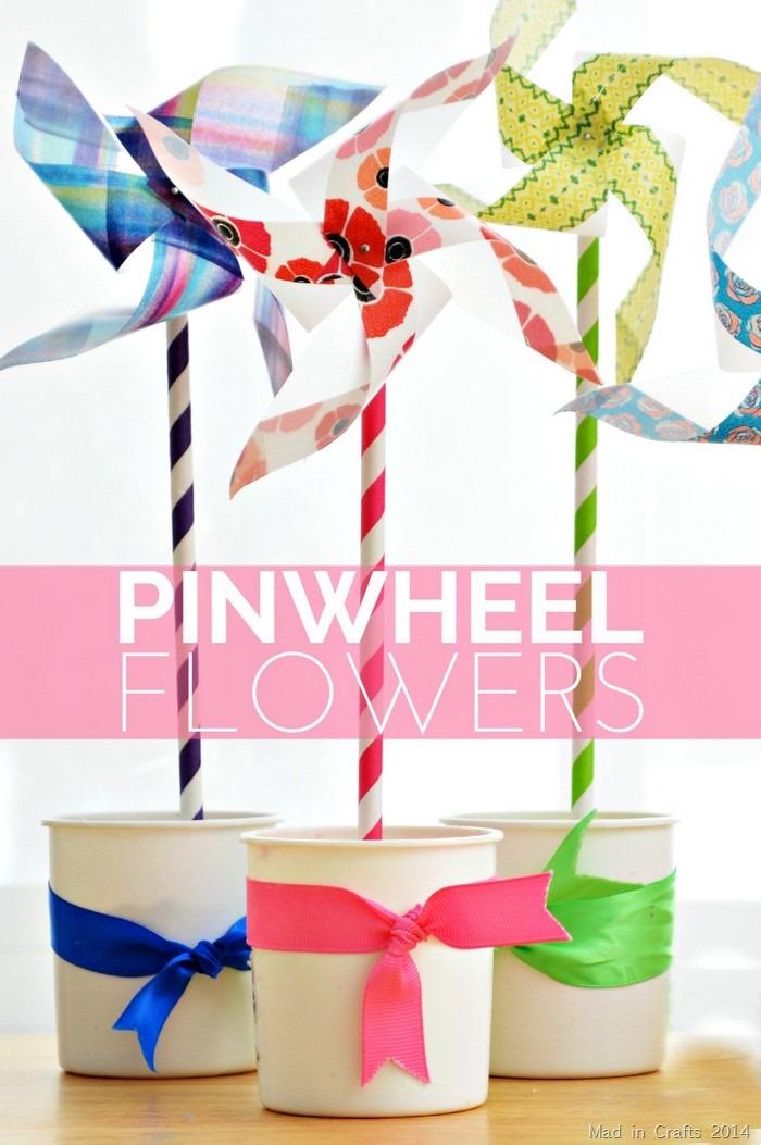 DIY Pinwheel Flowers