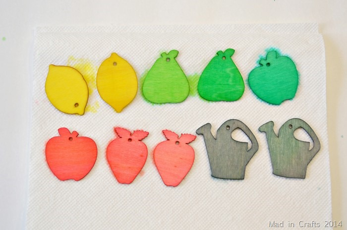 Dyed Tags Drying