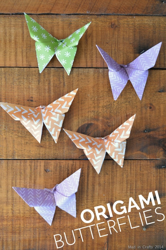 Origami Butterfly Tutorial Mad in Crafts