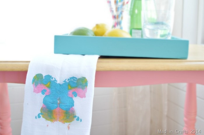 Rorshach Butterfly Towels