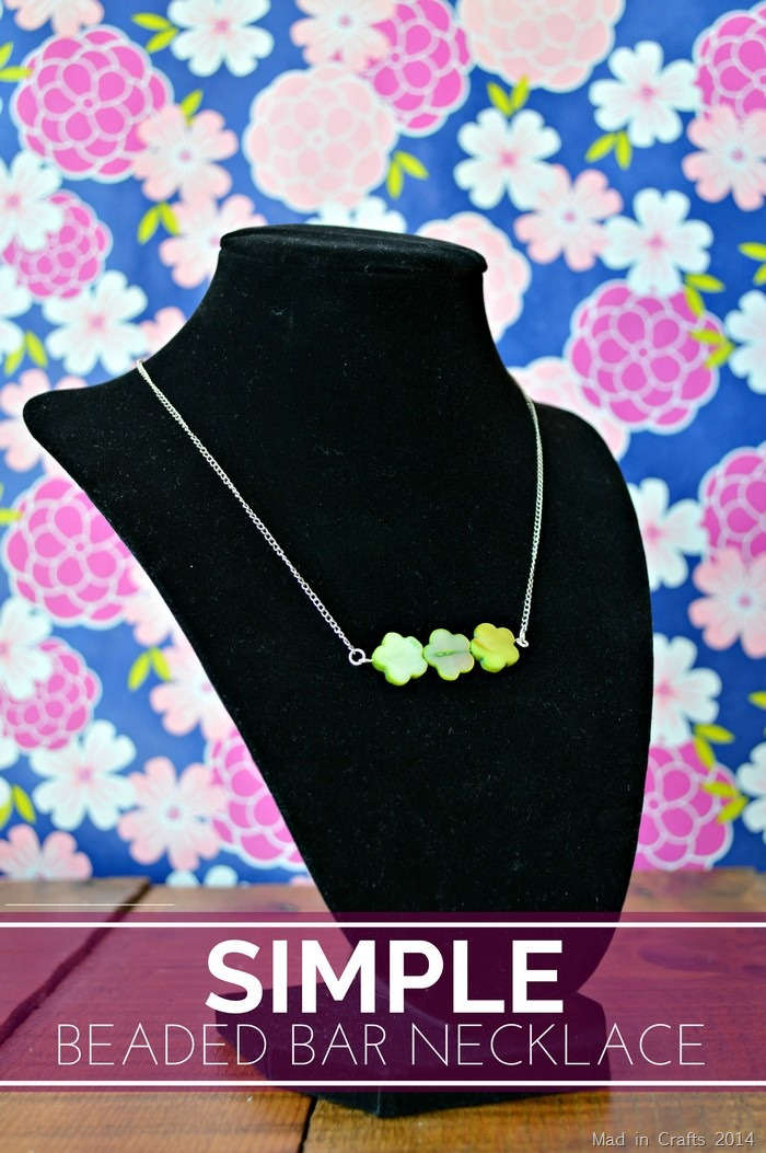 Simple Beaded Bar Necklace - Mad in Crafts
