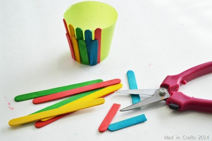 Craft Stick Flower Pot Mad In Crafts