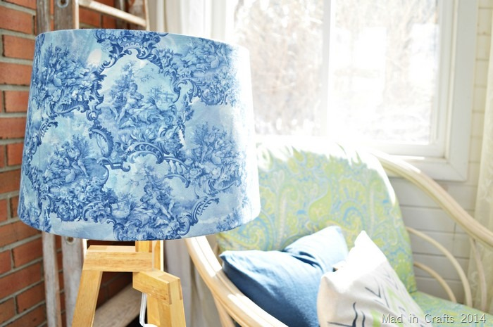 dyed lampshade cover