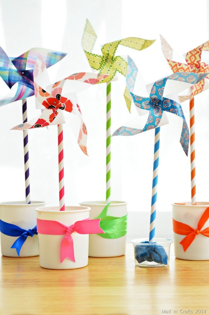 Easy Pinwheel Flowers Mad In Crafts