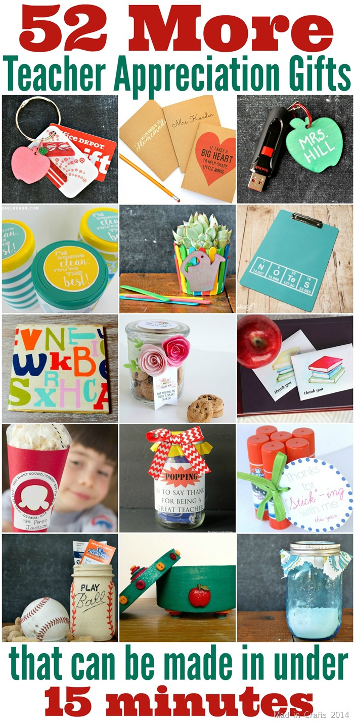 52 More Teacher Appreciation Gifts that Can Be Made in Less Than 15 Minutes