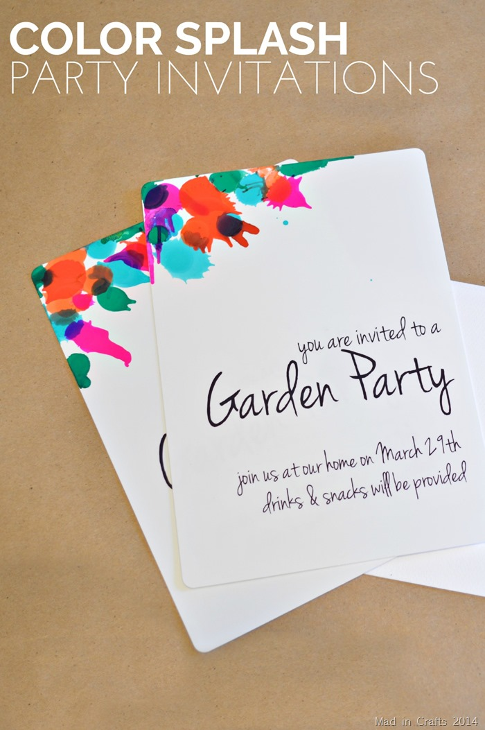 COLOR SPLASH PARTY INVITATIONS FOR MYPRINTLY - Mad in Crafts