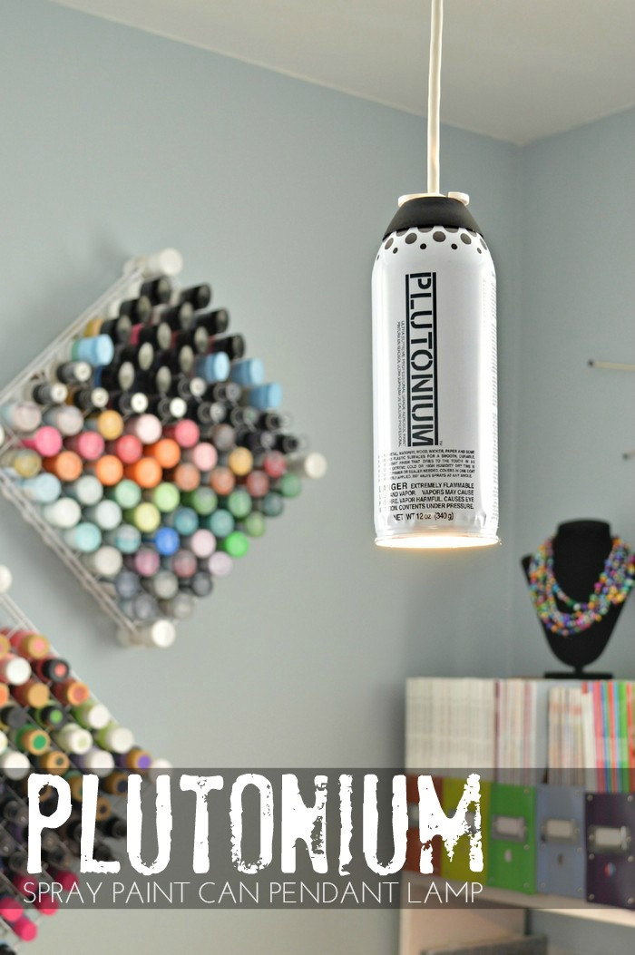 Plutonium Spray Paint Can Pendant Lamp