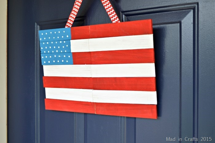 Wood Shim American Flag Decor